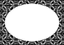 Fond de cadre de cercle avec les frontières décorées illustration de vecteur