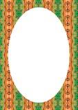 Fond de cadre de cercle avec les frontières décorées illustration stock