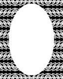 Fond de cadre de cercle avec les frontières décorées Images stock