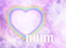 Fond de cadre de coeur d'arc-en-ciel de maman Photos libres de droits