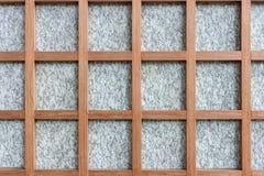 Fond de cadre de granit et en bois Photo stock