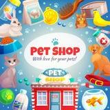 Fond de cadre de magasin de bêtes illustration libre de droits