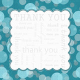 Fond de cadre de Teal Polka Dot Thank You Image stock