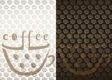 Fond de café illustration de vecteur