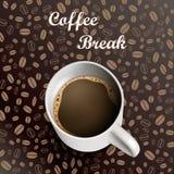 Fond de café de tasse Photographie stock libre de droits