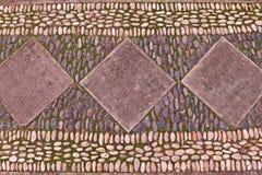 Fond de cailloux de roche de rivière sur le plancher Photos libres de droits