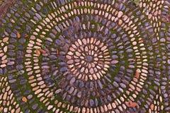 Fond de cailloux de roche de rivière sur le plancher Image stock