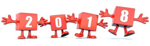 fond de calendrier de la nouvelle année 2018 illustration de vecteur