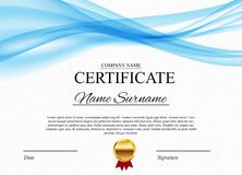 Fond de calibre de certificat Blanc de conception de diplôme de récompense Illustration de vecteur Photographie stock libre de droits