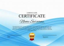 Fond de calibre de certificat Blanc de conception de diplôme de récompense Illustration de vecteur Photos stock