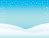 Fond de calibre congelé par vacances de flocon de neige d'hiver Images libres de droits