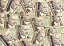 Fond de Canadien cents billets d'un dollar Images libres de droits
