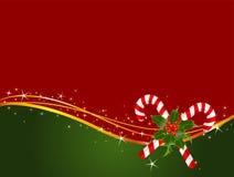 Fond de canne de sucrerie de Noël Image stock