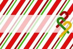 Fond de canne de sucrerie de Noël Photos libres de droits