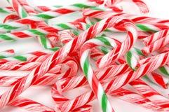 Fond de cannes de Noël Photos libres de droits