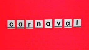 Fond de Carnaval avec le mot carnaval photos libres de droits