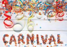 Fond de carnaval avec le texte et les flammes Image stock