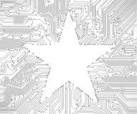 Fond de carte avec l'étoile Image libre de droits