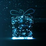 Fond de carte, cadeau de Noël Image stock