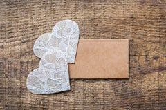 Fond de carte cadeaux d'amour de vacances de jour de valentines Photos libres de droits
