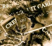 Fond de carte de crédit Photographie stock libre de droits
