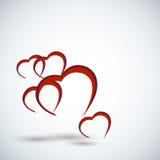 Fond de carte de jour de Valentines Photos libres de droits