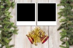 Fond de carte de Noël avec un espace pour le texte Image stock