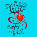 Fond de carte de Valentine Image libre de droits
