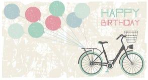Fond de carte de voeux d'anniversaire Image stock
