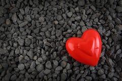 Fond de carte de voeux de coeur de Saint-Valentin Image libre de droits