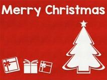 Fond de carte de voeux de Joyeux Noël images stock