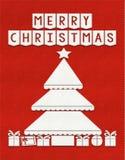 Fond de carte de voeux de Joyeux Noël illustration stock