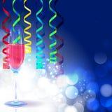 Fond de carte de voeux de nouvelle année Image libre de droits