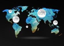 Fond de carte du monde Photos stock