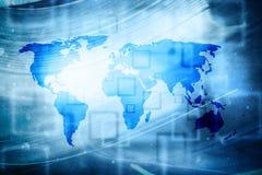 Fond de carte du monde d'abrégé sur intelligence artificielle images stock