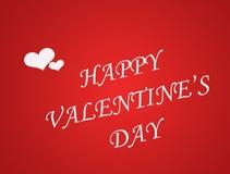 Fond de carte de jour de valentines avec le coeur Photos libres de droits