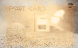 Fond de carte postale de cru Photo libre de droits