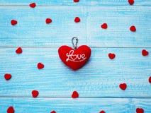 Fond de carte de voeux de jour du ` s de Valentine Photos libres de droits