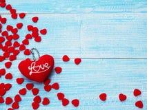 Fond de carte de voeux de jour du ` s de Valentine Images libres de droits
