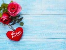 Fond de carte de voeux de jour du ` s de Valentine Images stock