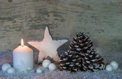 Fond de carte de voeux de Noël Photos libres de droits