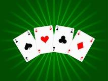 Fond de cartes de jeu Photographie stock libre de droits