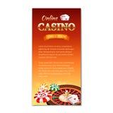 Fond de casino Bannière verticale, insecte Illustration Stock