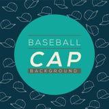 Fond de casquettes de baseball Images stock