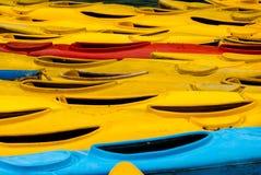 Fond de cayaks d'océan Photographie stock