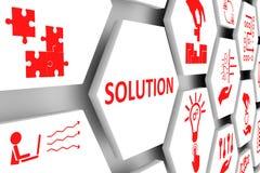 Fond de cellules de concept de SOLUTION illustration de vecteur