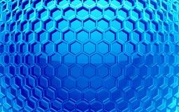Fond de cellules d'hexagone Photo libre de droits