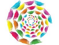 Fond de cercle avec des formes d'absract Photos libres de droits
