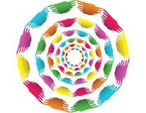 Fond de cercle avec des formes d'absract Image stock