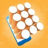 Fond de cercle de Smartphone APP 3d illustration stock